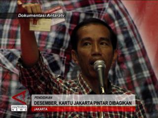 Desember, Kartu Jakarta Pintar Dibagikan