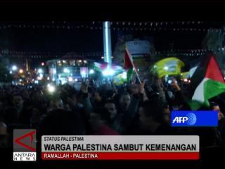 Warga Palestina Sambut Kemenangan